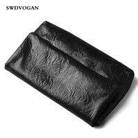 Роскошный ручной работы ручной клатч кошелек для мужчин кошельки Корова Ретро Натуральная кожа мужской клатч сумка большой емкости конвер
