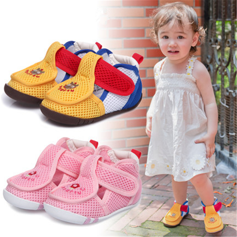 Summer Baby Shoes For Girls Infant Boys Soft Sole Cute Footwear For Newborn Fashion Cotton High Quality Baby Shoes 703045 2017 toddler infant baby boy shoes navy blue casual newborn boys sneaker soft sole girls shoes tenis menino