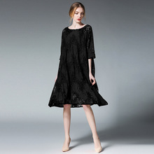 Maternity Lace Dresses Hollow Graviditet Kvinnor Casual Loose Dress 2Sets O Neck Short Sleeve Broderi Gravid Kläder