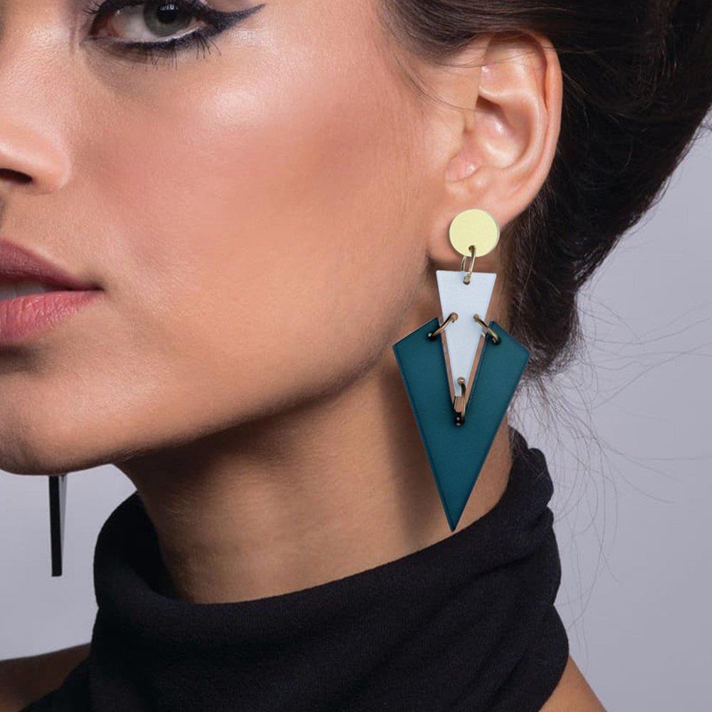 Оригинальный V yakeli веб-знаменитости мода ярких цветов серьги милые серьги Street Стиль серьги для девочки для вечеринки, дня рождения