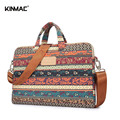 Kinmac Canvas Laptop Bags Messenger Shoulder Notebook Computer Laptop Sleeve Bag 13 14 15.6 inch for Macbook HP Lenovo ASUS DELL
