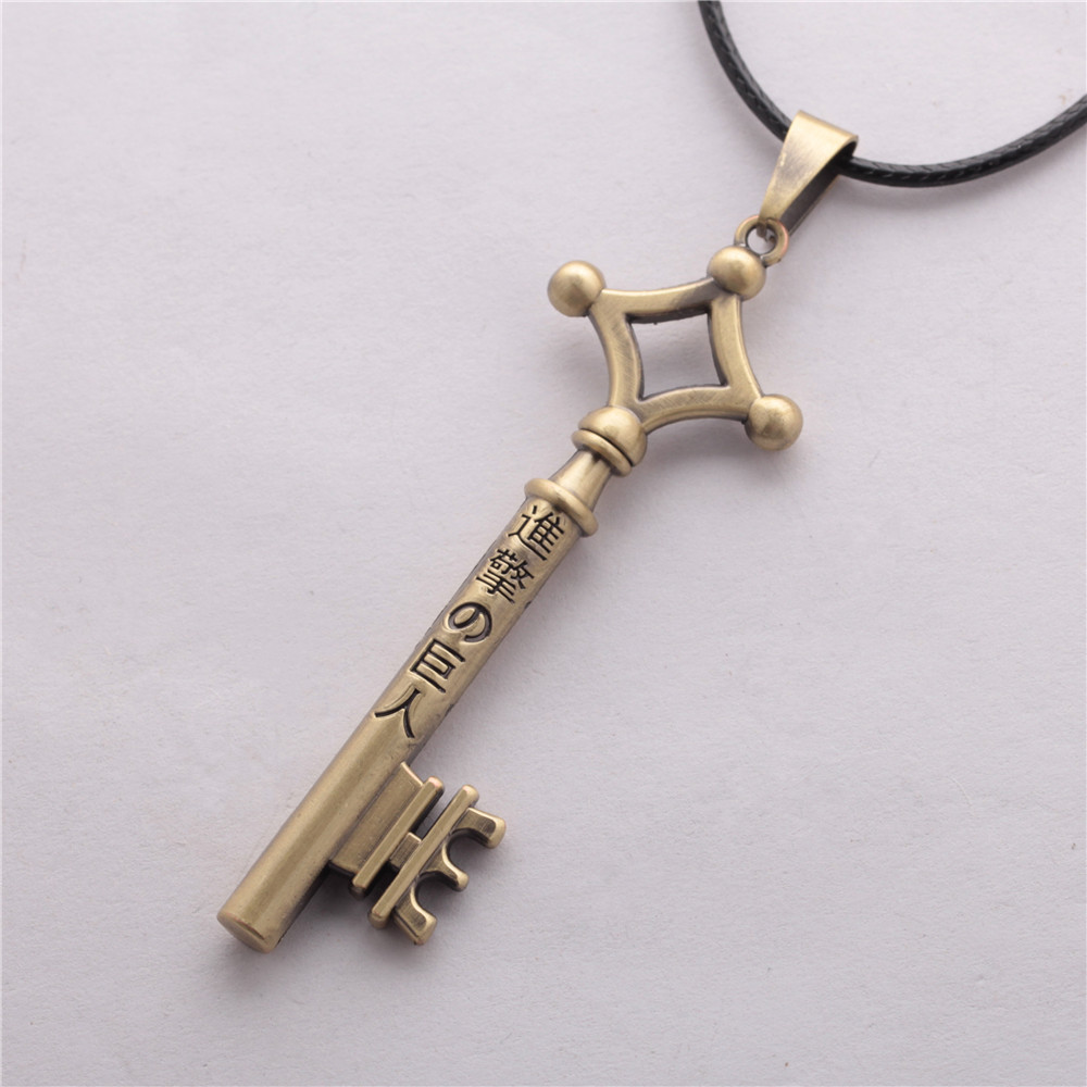 3 Colors Attack On Titan Eren Key Necklace Metal Pendant ...