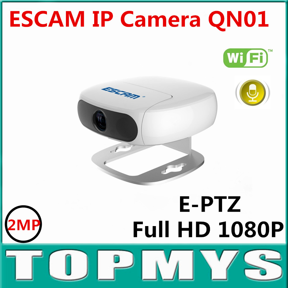 Free Shipping ESCAM QN01 IP Camera MINI WIFI Household IP Camera 2.0MP HD 1080P Onvif P2P Surveillance Night Vision CCTV IP Cam wifi ipc 720p 1280 720p household camera onvif with allbrand camera free shipping
