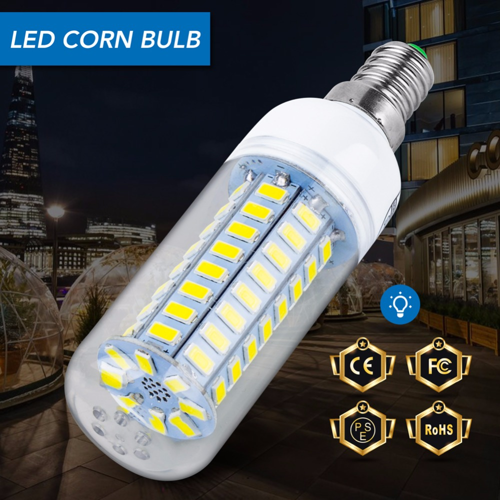 E14 LED Bulb Corn Lamp E27 LED light 220V Ampoule Led 3W lampada 5730 SMD 24 36 48 56 69 72leds Candle Light Bulb 5W Chandelier