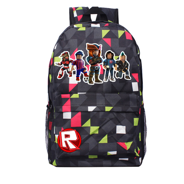 Anime Game Roblox Student School Bags Casual Boys Girls Backpack Kids Gift Bag Cartoon Book Bag