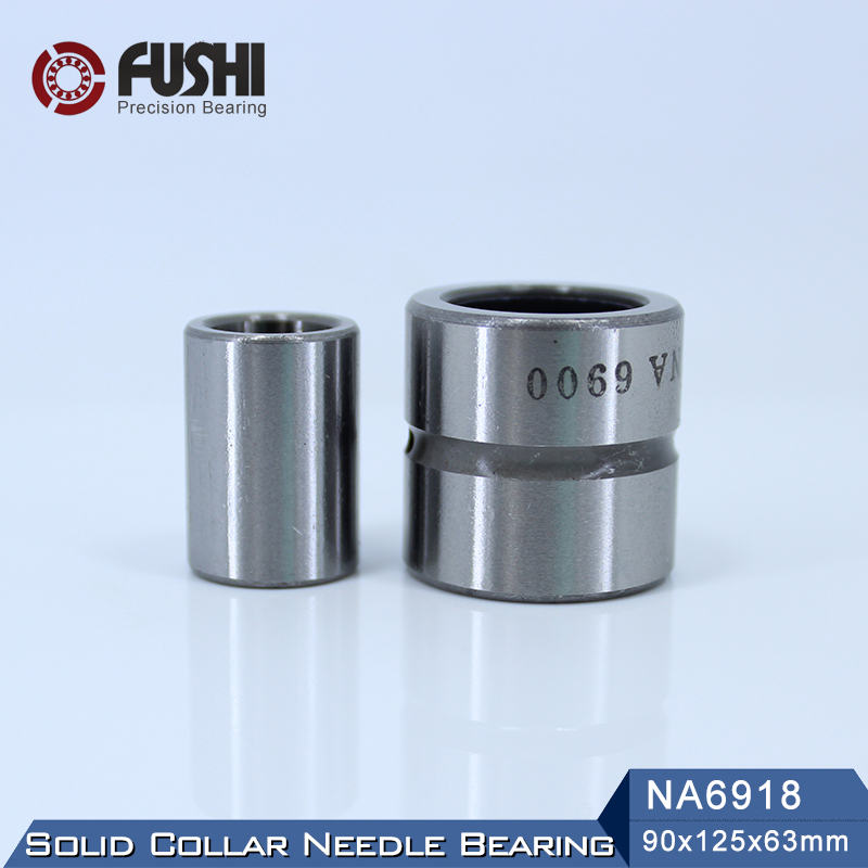 NA6918 Bearing 90*125*63 mm ( 1 PC ) Solid Collar Needle Roller Bearings With Inner Ring 6534918 6254918/A Bearing bk3038 needle bearings 30 37 38 mm 1 pc drawn cup needle roller bearing bk303738 caged closed one end