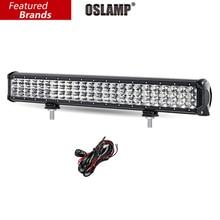 Oslamp 288 W 6D 3-Row 23 pouce LED Lumière Bar Offroad CREE Puces Combo Led travail Light Bar pour Camions SUV ATV 4WD 4×4 Led Bar 12 v 24 v