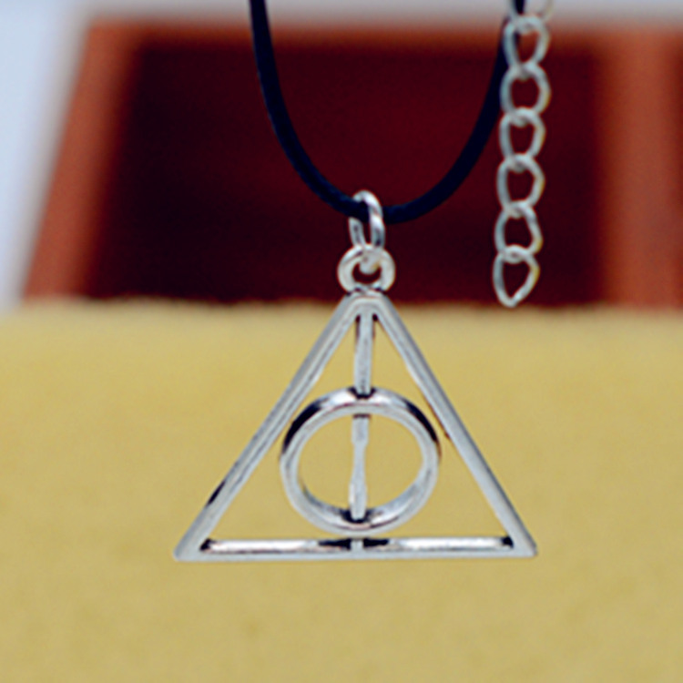 Ancient silver Harri Rotate Deathly Hallows Pendant Necklace Valentine Gift Best Friend Potter Necklace Jewelry Accessories gift