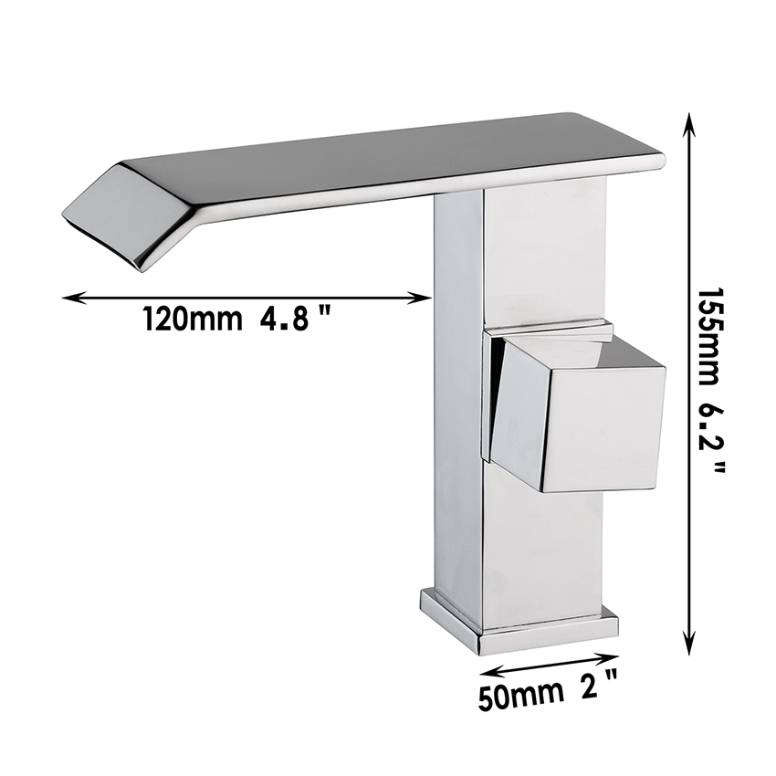 New Kitchen Bathroom Faucet Single Handle Single Hole Sink Faucet torneira Square Rectangle Faucet