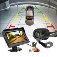 Auto Monitor 4.3 Inch TFT LCD 480x272 Auto Achteruitkijkspiegel Monitor + waterdicht 420 TV Lijnen CCD Achteruitrijcamera Backup Parking Camera
