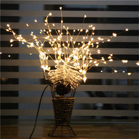Romantic 198Leds 36 Branches Starry Stars Lights Silver Branch Twigs Indoor and outdoor decorations Tree Fairy light EU/US Plug