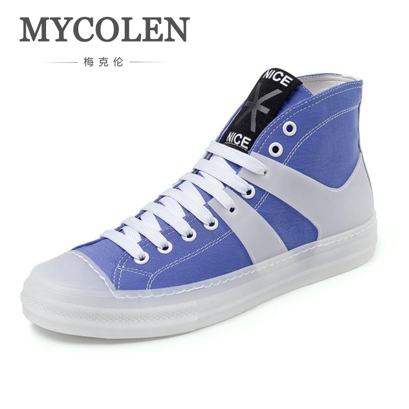 MYCOLEN The New Listing Classic Lace-Up Canvas Shoes Men Fashion Casual Shoes Street Style Tide Flat Shoes Sapatenis Men mycolen 2018 new fashion shoes men classic lace up gentleman male casual business dress black derby formal shoe sapatenis