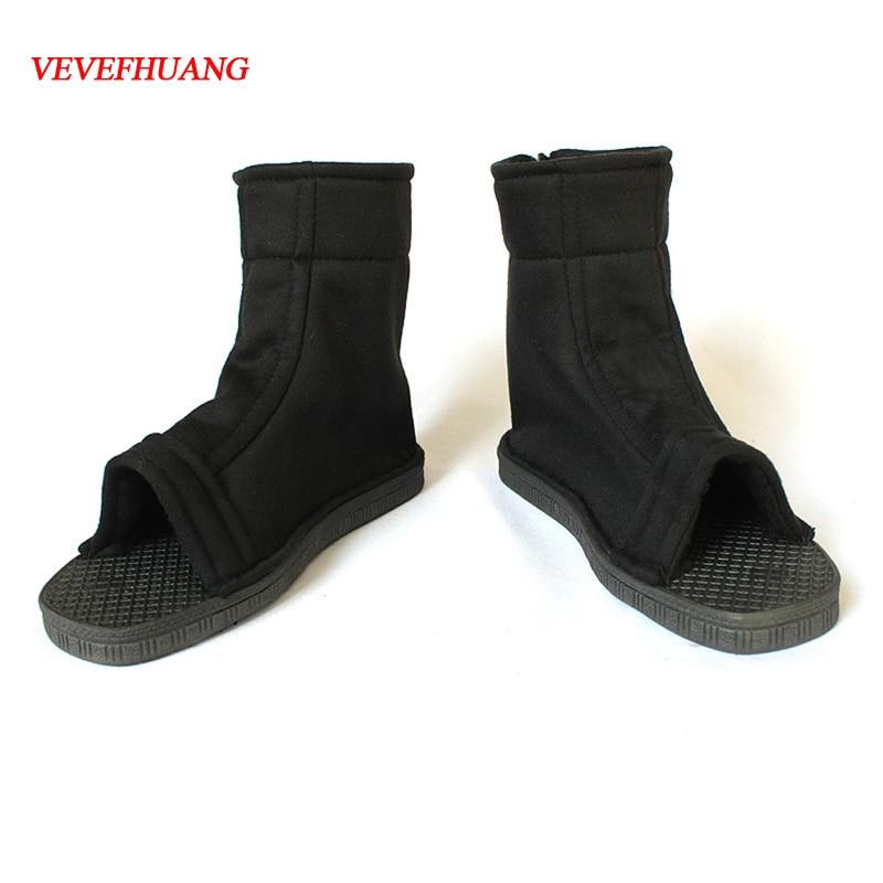 VEVEFHUANG Animal Cosplay Naruto Boruto Sasuke Cosplay Shoes Konoha Black Blue Boots Kakashi Summer Breathable Shoes