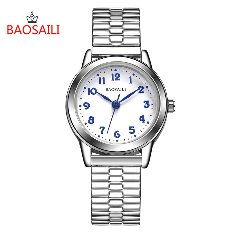 BAOSAILI  Women Classic Design Arab Fixtures Stainless Steel Elastic Strap Water Resistant Silver Long Lasting Watches Bs8206 promoting social change in the arab gulf