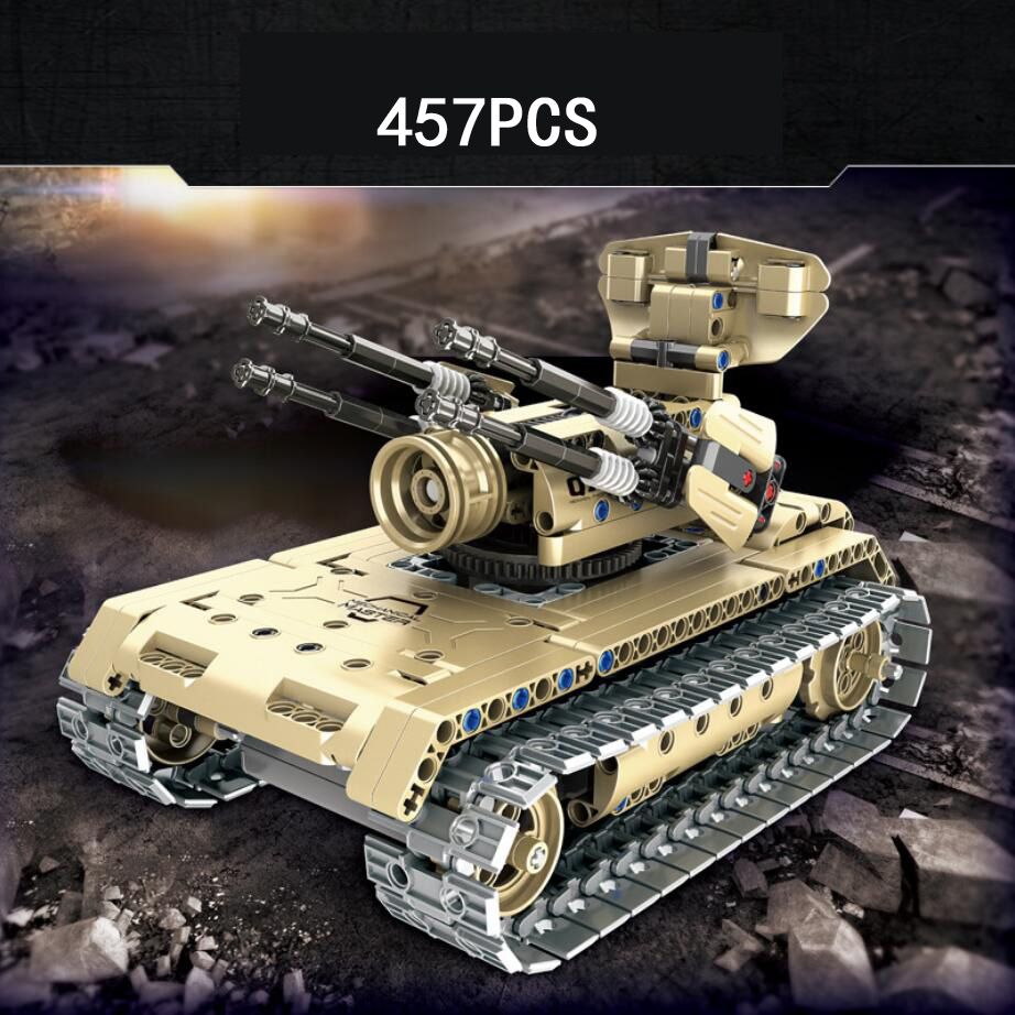 2.4Ghz modern military Antiaircraft tank remote radio control building block assemable model bricks rc toys for boys gifts modern military world war giant battleship type 052d destroyer 2in1 building block plastic submarine model bricks toys for boys