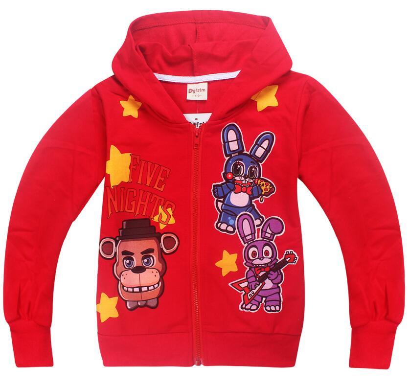 NEW Kids Boys Five nights at Freddy Long Sleeve Hoodie Sweatshirt Pants Set Gift