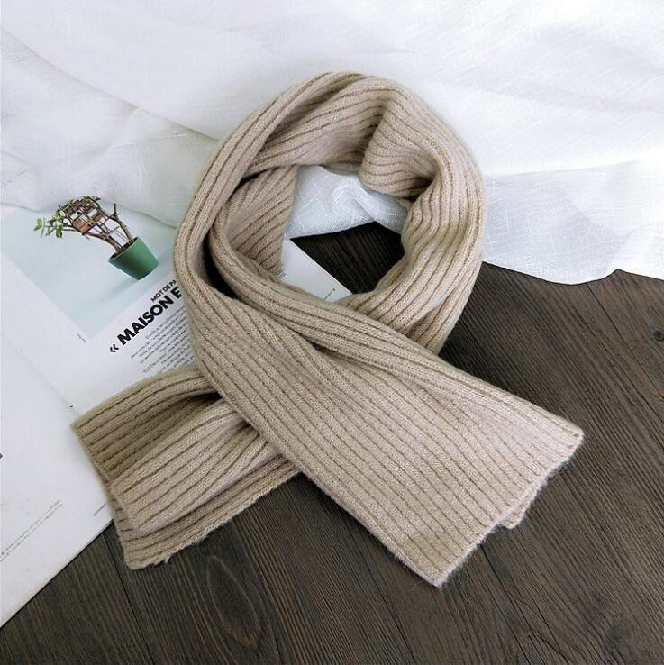 2019 Solid Color Coarse Wool Scarf Female Winter Students Couple Long Thickening Warm Knitting Scarves Sweet Girl Wraps Scarf