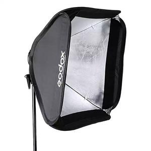 Image 4 - Godox 60x60 سم سوفت بوكس عدة فلاش الناشر + S نوع قوس حامل بونز لكانون نيكون فلاش سبيدليت 60*60 سم لينة صندوق