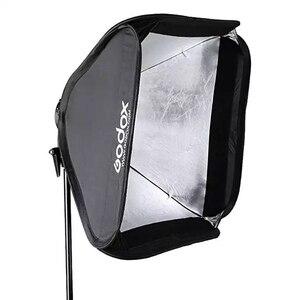 Image 4 - Godox 60x60 cm Softbox Kit Flash Diffusor + S typ Halterung Bowens Halter für Canon Nikon Flash speedlite 60*60 cm Weichen box