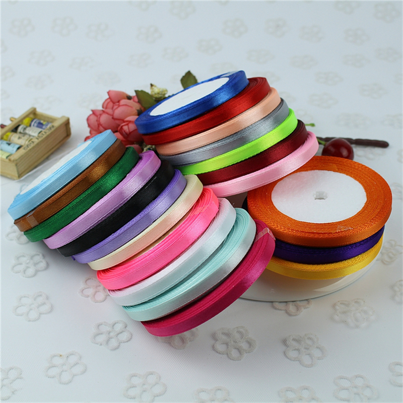 6mm 22 Meters (25 Yards) Silk Satin Ribbon Party Home Wedding Decoration  Gift Wrapping bf370d6f985c
