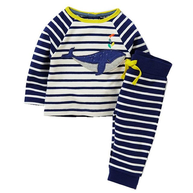 Boys Clothing Set Children's Sports Suits Kids Fashion 2017 Brand Autumn Baby Boy Clothes Animal Applique Tops+Pants Outfits