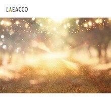 Dreamy Shiny Gold Polka Dots Light Bokeh Love Wedding Party Baby Newborn Photo Backdrops Photography Background For Studio
