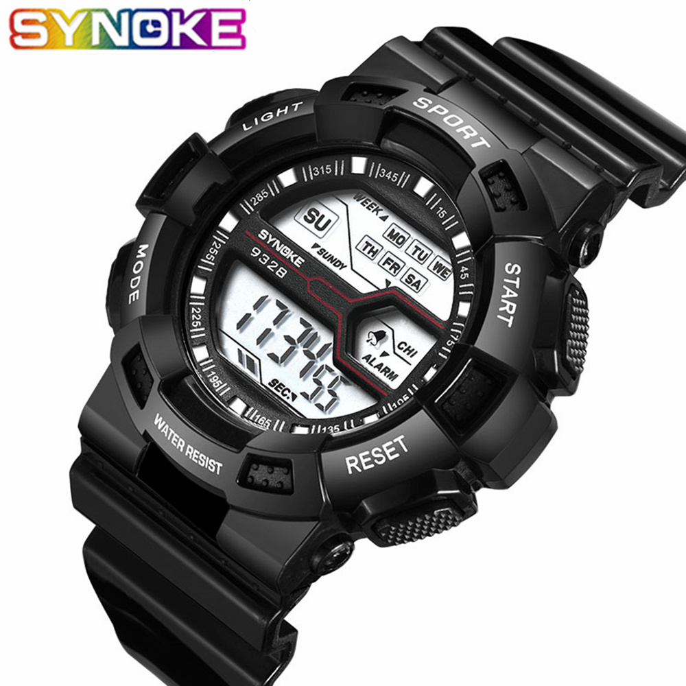 SYNOKE Montre Children Boys Student Luxury Brand Waterproof Sports Watch LED Digital Date Wristwatch Clock Fashion Relogio L30