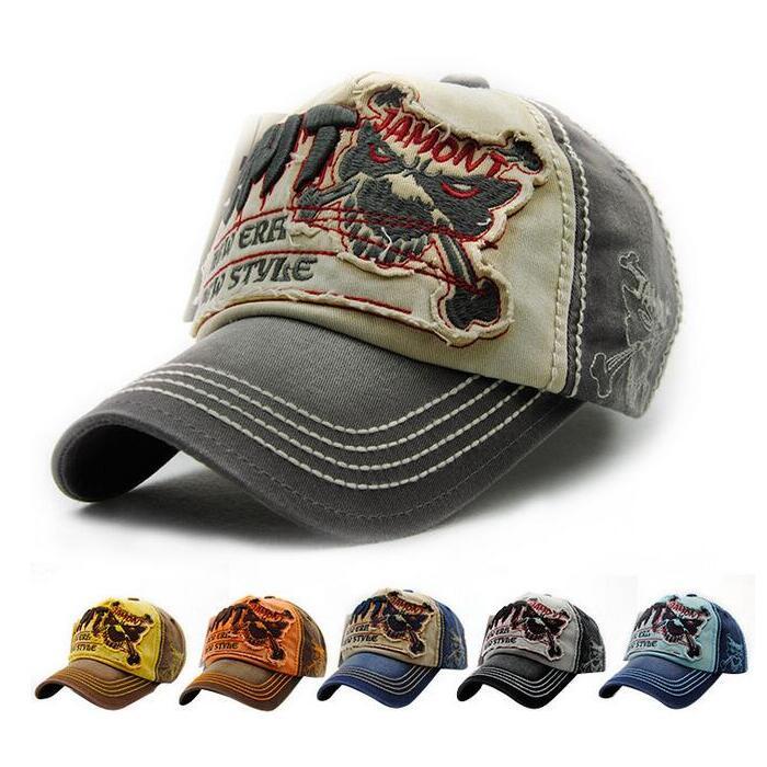 Prix pour Chaude 2017 nouvelle mode coton Crâne casquette de baseball snapback chapeau pour hommes femmes Hommes de soleil chapeau os gorras broderie casquettes printemps caps