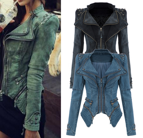 Popular Denim Jacket Studded-Buy Cheap Denim Jacket Studded lots ...
