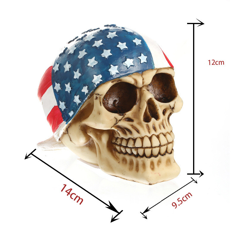 ee93a6cc1ae MRZOOT Resin Craft Home Decorations Skeleton Skull American Flag  Personalized Ornaments Fashion Decor -in Statues   Sculptures from Home    Garden on ...