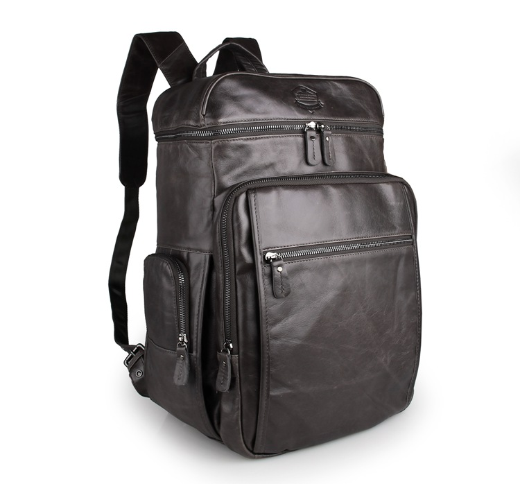 J.M.D100% Genuine Leather Large Size Leather Backpack For Men Travelling Bags 7202I-1