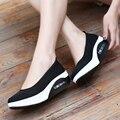 2017 весна женщин сетка повседневная обувь женщин плоские туфли на платформе новые сандалии моды платформы пятки женская обувь
