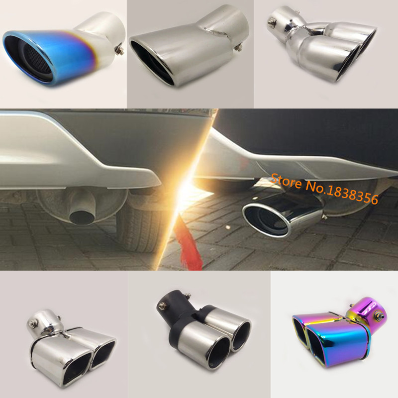 Hot For Honda CRV CR-V 2012 2013 2014 Car Cover Muffler Exterior End Pipe Outlet Dedicate Stainless Steel Exhaust Tip Tail 1pcs