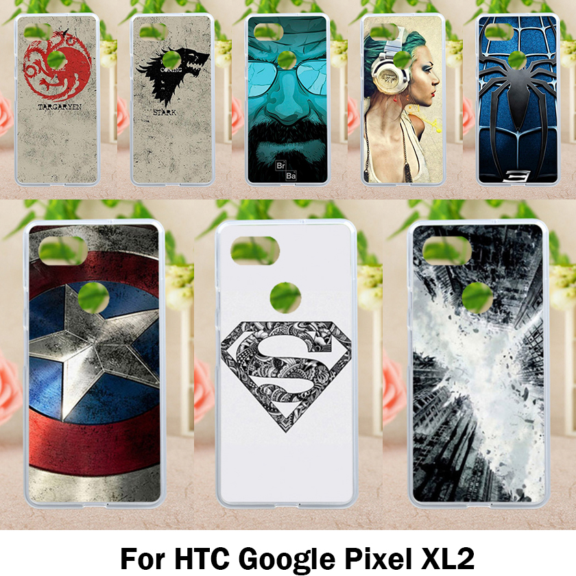 Soft Cases For HTC Pixel XL 2 Case Housings Phone Cover Antil-Knock Cover For Google Pixel XL2 6.0 Inch Silicone