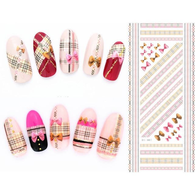 ROSALIND наклейки для ногтей Дизайн ногтей слайдеры 2019 все для маникюра 3D наклейки для ногтей водные аксессуары набор цветочных украшений