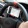 Universal Car Phone Holder Steering Wheel Clip Mount Rubber Band Mobile Phone Stand For iPhone Samsung xiaomi Huawei Android