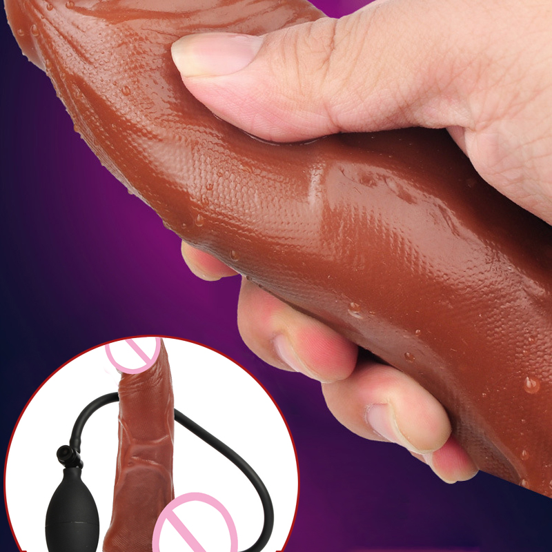 Pressure Pump Orgasm Huge Inflatable Penis Dildo Anal Suction Cup Realistic Anal Sex Dildo for Women Sex Toys Adult sex product big soft black pump inflatable dildo sex toys inflatable realistic suction cup inflatable dildo