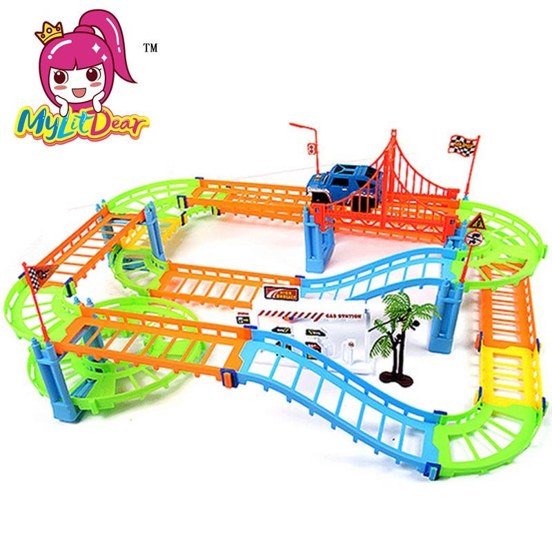 MylitDear New 2 Lodra Colorful Colorful Rail Style Layer Multilayer - Makina lodër për fëmije - Foto 6