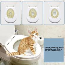 Набор для обучения кошачьему унитазу, пластиковый поднос для щенка, поднос для уборки домашних животных, здоровые домашние кошки, унитаз для людей, новинка