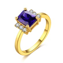 Cubic Zirconia Rings Silver/Gold Color Fashion Ring Engagement Jewelry For Women DFR057