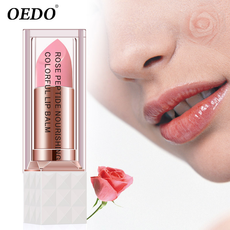 Розовый пептид питательный красочный бальзам для губ антивозрастной антифриз анти-потрескаемый Макияж Уход за кожей лица ремонт повреждения губ увлажняющий крем
