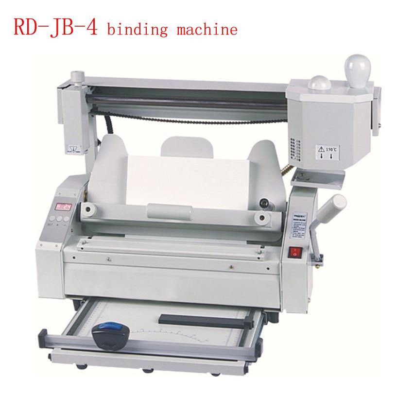 Hot Melt Glue Binding Machine Desktop Glue Books Binding Machine Glue Book Binder Machine 110V/220V RD-JB-4