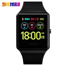 2019 SKMEI Bluetooth Smart Watches Sport Watch Heart Rate Blood Pressure Men Digital Wristwatches Fitness Relogio Masculino 1526