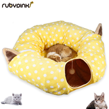 Cat Play toy Tunnel Funny Pet Foldable Bulk Small Toys Portable Rabbit Beds House and Sleep with Ball