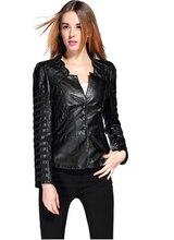Новая Мода Европейские и Американские Женщины Мягкой Кожи Куртки ПУ Черный Красное вино молния С Длинными рукавами Куртка Мотоцикла