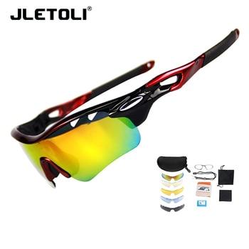 ccbfe202e8 JLETOLI deportes ciclismo gafas polarizadas hombre UV400 camino Mounain bicicleta  gafas de sol de bicicletas gafas Mtb gafas 1 Marco 5 lente
