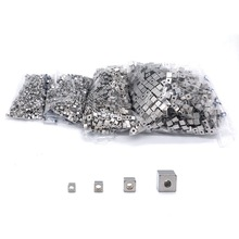 50pcs/lot Stainless Steel Silver Tone Solid Square Bead 2.5 3 4 6MM with 2mm Big Hole Cubic Charm DIY Jewelry Accessories
