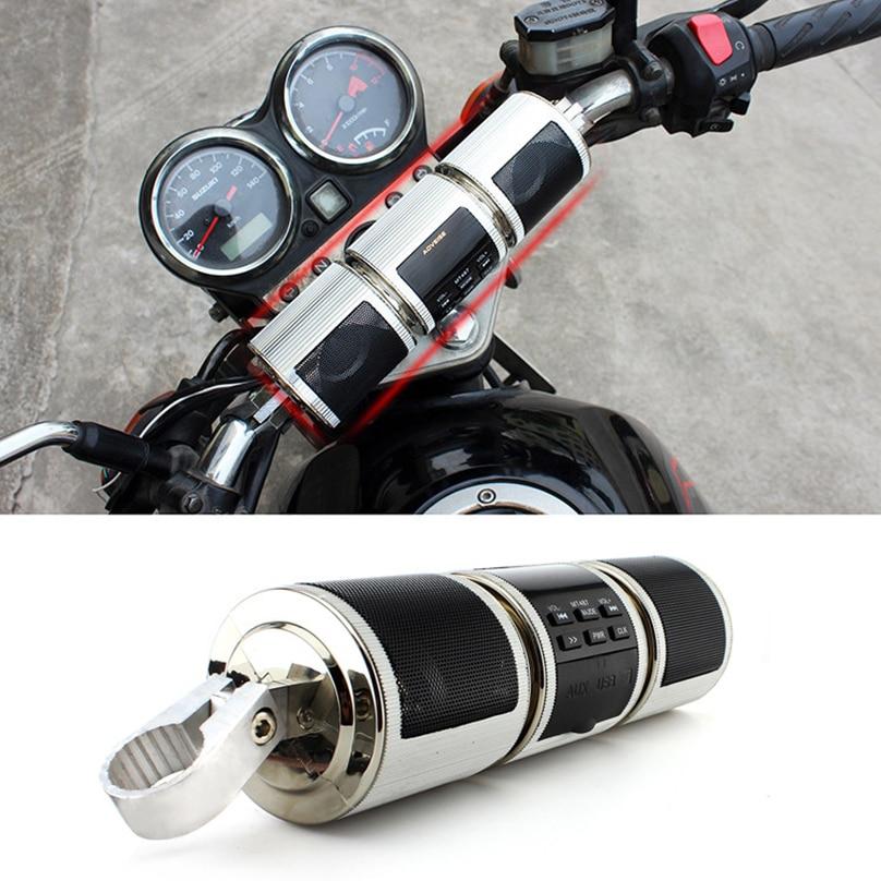 Handlebar Motorcycle MP3 Player Speaker Bluetooth Music FM Radio Waterproof Adjustable Bracket Motorbike Audio Stereo ATV