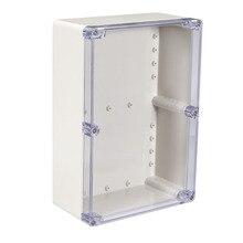 Uxcell 200x120x56mm Wateproof elektroniczne pudełko projektowe ABS plastikowe DIY obudowa zewnętrzna/wewnętrzna pudełka 158x90x60mm