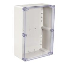 Uxcell 200x120x56mm su geçirmez elektronik kavşak proje kutusu ABS plastik DIY muhafaza kutusu açık/kapalı kutuları 158x90x60mm